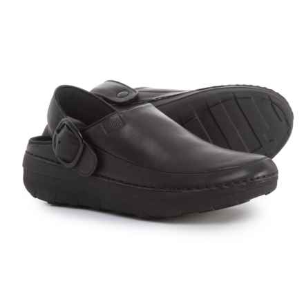 FitFlop Gogh Pro Superlight Clogs - Leather (For Women) in Black - Closeouts