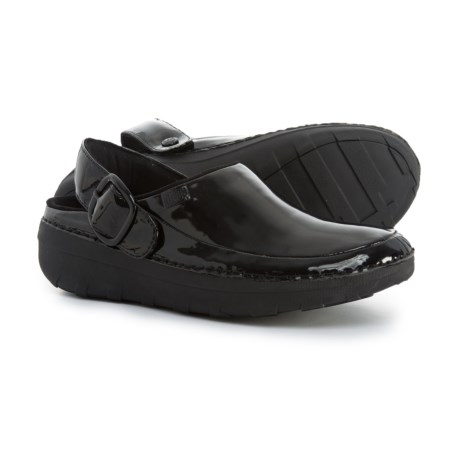 FitFlop Gogh Pro Superlight Patent Clogs (For Women) in Black Patent