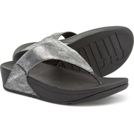 dbcdb127b8c4 FitFlop Lulu Flip-Flops(For Women) in Black Shimmer-Print