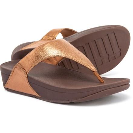 97a299f4a FitFlop Lulu Molten Metal Flip-Flops (For Women) in Bronze