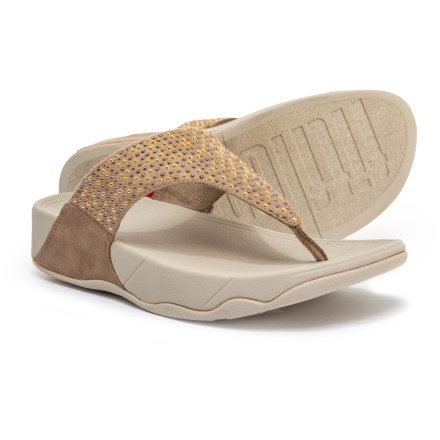 6c5a78add FitFlop Lulu Popstud Flip-Flops (For Women) in Desert Stone