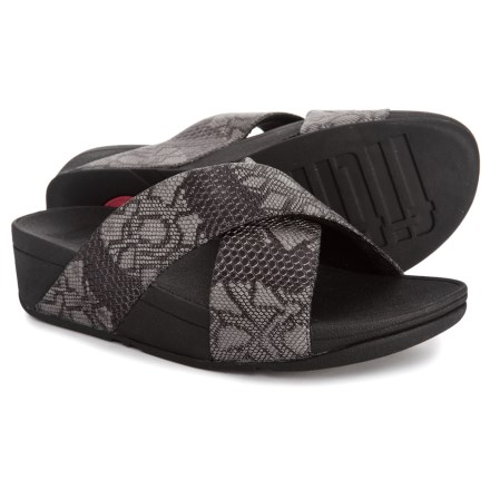 edb5c958ce6a FitFlop Lulu Python Print Slide Sandals (For Women) in Black