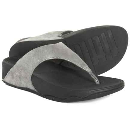 5d371cb45c07 FitFlop Lulu Shimmersuede Flip-Flops - Leather (For Women) in Pewter