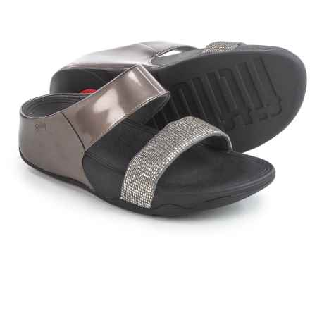FitFlop Lulu Superglitz Slide Sandals (For Women) in Silver - Closeouts