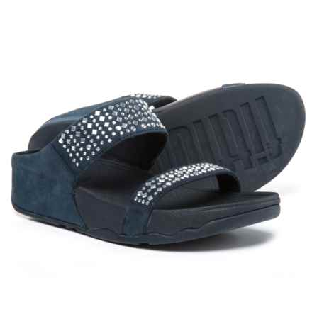 FitFlop Novy Slide Sandals - Nubuck (For Women) in Supernavy - Closeouts