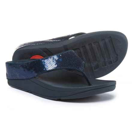FitFlop Ringer Sequin Toe-Post Sandals (For Women) in Super Navy - Closeouts