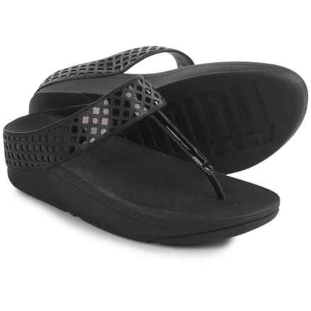 FitFlop Safi Toe-Post Sandals (For Women) in Black - Closeouts