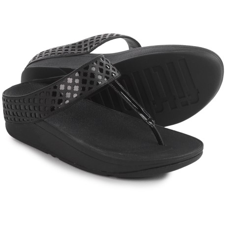 FitFlop Safi Toe-Post Sandals (For Women) in Black