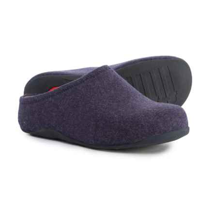 FitFlop Shuv Felt Clogs (For Women) in Super Navy - Closeouts