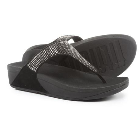 FitFlop Slinky Rokkit Wedge Flip-Flops (For Women) in Black