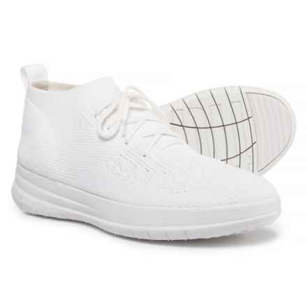 FitFlop Uberknit High-Top Sneakers - Slip-Ons (For Women) in Urban White - Closeouts