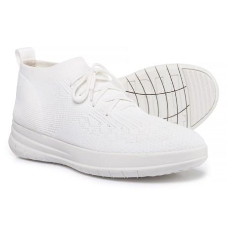 FitFlop Uberknit High-Top Sneakers - Slip-Ons (For Women) in Urban White