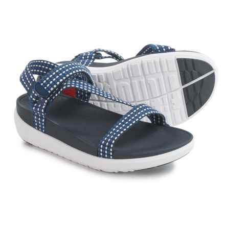 FitFlop Z-Strap Sandals (For Women) in White Weave/Sporty Blue - Closeouts