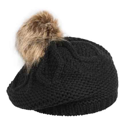 FITS Accessories Cable-Knit Beret (For Women) in Black - Closeouts