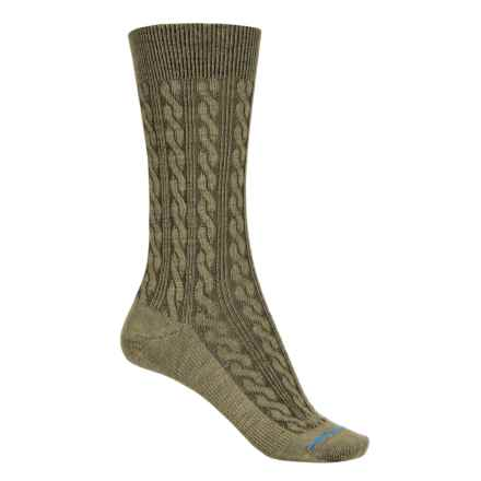FITS Accessories Cable-Knit Socks - Merino Wool, Crew  (For Women) in Dried Herb - 2nds