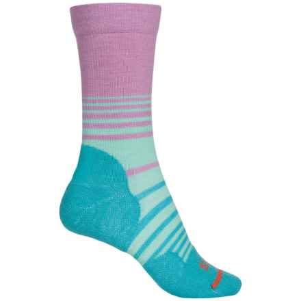 FITS Accessories Casual Crew Socks - Merino Wool (For Women) in Lavender Herb/ Scuba Blue - Closeouts