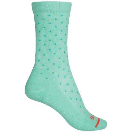 FITS Accessories Casual Polka-Dot Crew Socks - Merino Wool (For Women) in Lucite Green / Scuba Blue - Closeouts