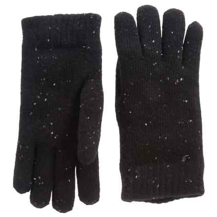 FITS Accessories Fleck-Knit Chenille-Lined Gloves (For Women) in Black - Closeouts