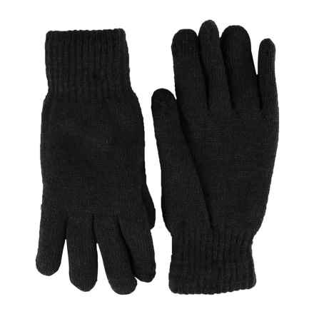 FITS Accessories Knit Chenille Gloves - Touchscreen Compatible (For Women) in Black - Closeouts