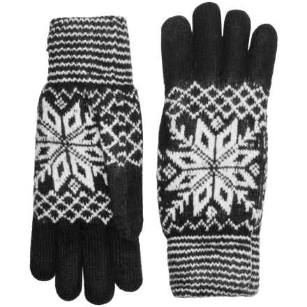 FITS Accessories Snowflake Gloves - Touchscreen Compatible, Chenille Lining (For Women) in Black/White - Closeouts