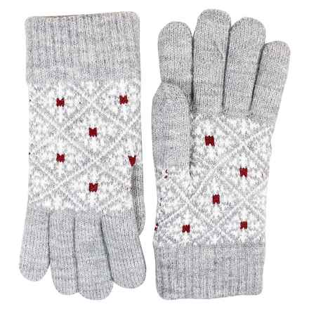 FITS Accessories Snowflake Jacquard Knit Gloves - Chenille Lined (For Women) in Grey - Closeouts