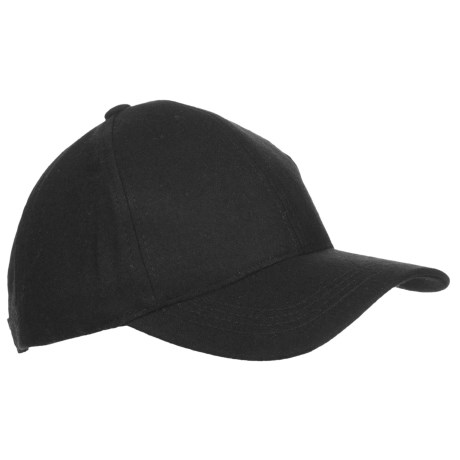 FITS Accessories Wool-Blend Baseball Cap (For Women) in Black