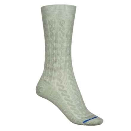 FITS Cable-Knit Socks - Merino Wool, Crew  (For Women) in Desert Sage - 2nds