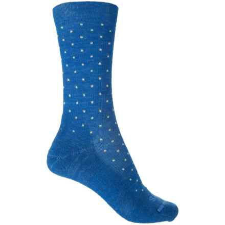 FITS Casual Pindot Socks - Merino Wool, Crew (For Men and Women) in Classic Blue - Closeouts