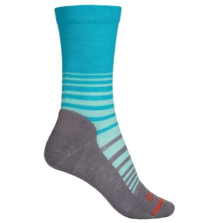 FITS Casual Socks - Merino Wool, Crew (For Women) in Scuba Blue/Titanium