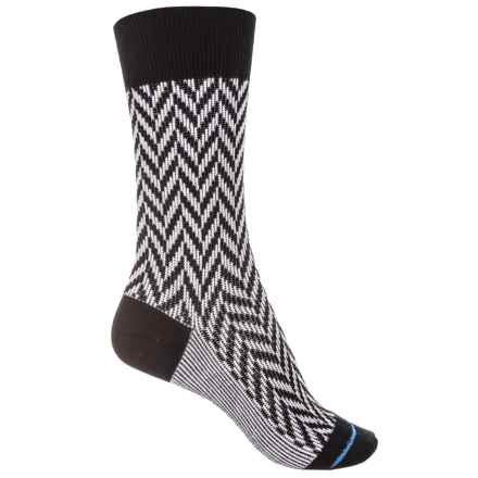 FITS Lifestyle Socks - Merino Wool, Crew (For Women) in Black/White - Closeouts