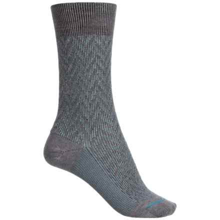 FITS Lifestyle Socks - Merino Wool, Crew (For Women) in Titanium/Stormy Weather - Closeouts