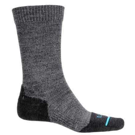 FITS Light Hiker Socks - Merino Wool, Crew (For Men and Women) in Coal - Overstock