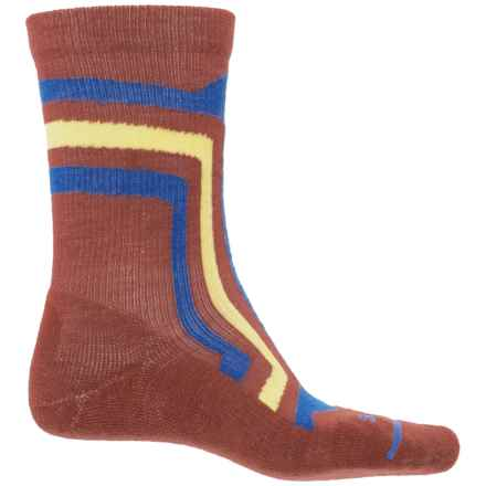 FITS Light Hiker Socks - Merino Wool, Crew (For Men and Women) in Marsala - Closeouts