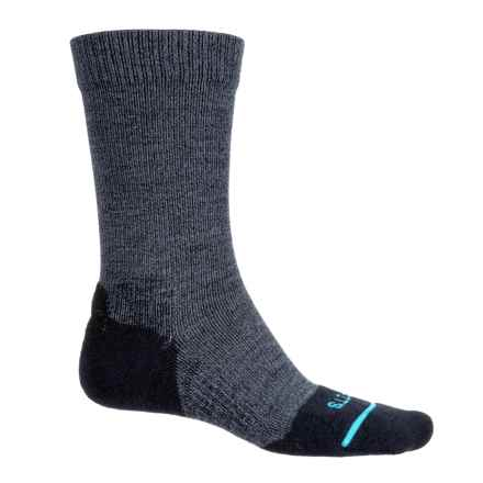 FITS Light Hiker Socks - Merino Wool, Crew (For Men and Women) in Navy - Overstock