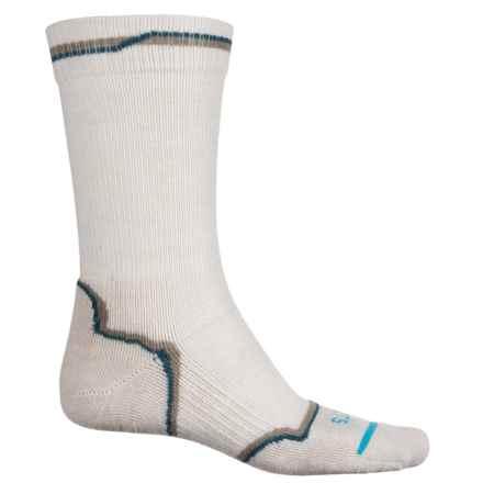 FITS Light Hiker Socks - Merino Wool, Crew (For Men and Women) in Rainy Day - Overstock
