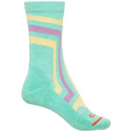FITS Light Hiker Socks - Merino Wool, Crew (For Women) in Lucite Green/Custard - 2nds