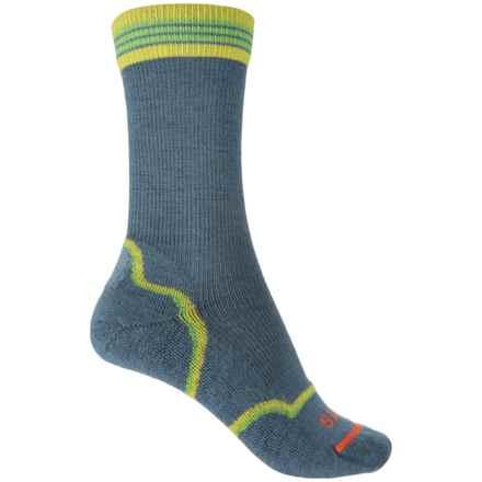 FITS Light Hiker Socks - Merino Wool, Crew (For Women) in Steel Blue - Overstock