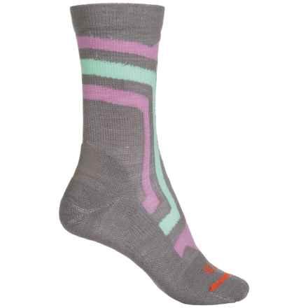 FITS Light Hiker Socks - Merino Wool, Crew (For Women) in Titanium/Lavender Herb - 2nds