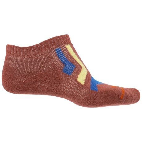 FITS Light Runner Low Socks - Merino Wool, Below the Ankle (For Men and Women) in Marsala/Classic Blue