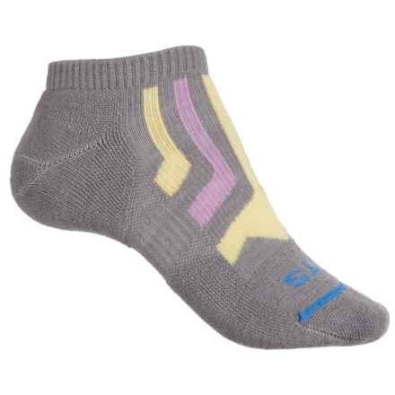 FITS Light Runner Low Socks - Merino Wool, Below the Ankle (For Men and Women) in Titanium / Custard - Closeouts