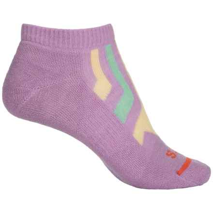 FITS Light Runner Low Socks - Merino Wool, Below the Ankle (For Women) in Lavender/ Custard - Closeouts