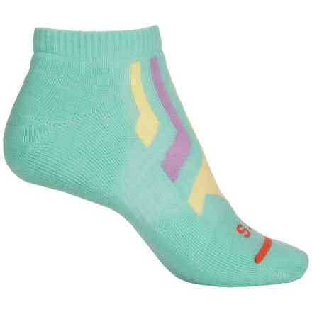 FITS Light Runner Low Socks - Merino Wool, Below the Ankle (For Women) in Lucite Green/Custard - Closeouts