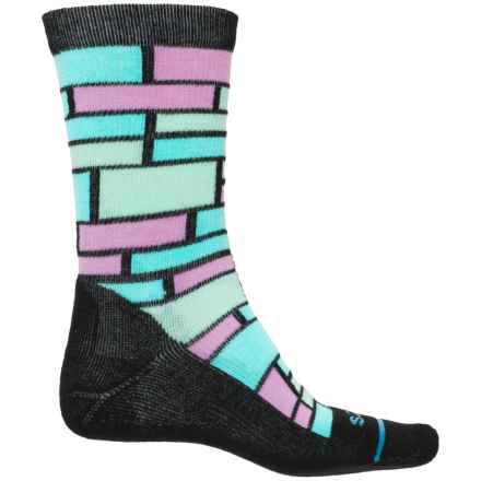 FITS Omega Performance Casual Socks - Merino Wool, Crew (For Men and Women) in Black / Scuba Blue - Closeouts