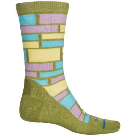 FITS Omega Performance Casual Socks - Merino Wool, Crew (For Men and Women) in Woodbine/ Custard - Closeouts
