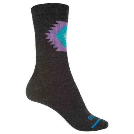 FITS Taos Medium Hiker Socks - Merino Wool, Crew (For Men and Women) in Charcoal - Closeouts