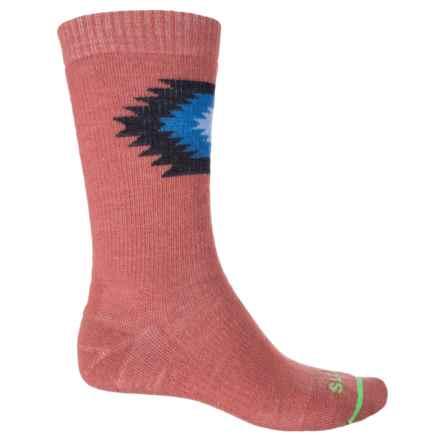 FITS Taos Medium Hiker Socks - Merino Wool, Crew (For Men and Women) in Marsala - Closeouts