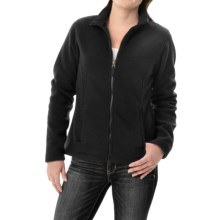 Fitted Fleece Jacket (For Women) in Black - 2nds