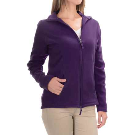 Fitted Fleece Jacket (For Women) in Deep Purple - 2nds