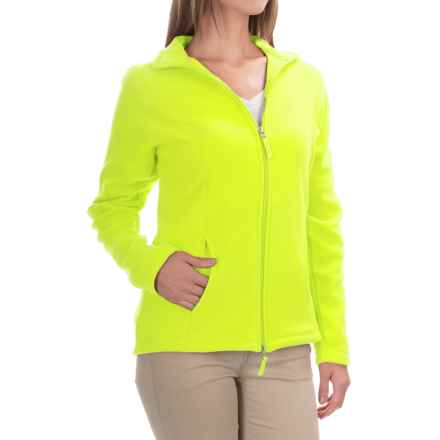 Fitted Fleece Jacket (For Women) in Fluorescent Yellow - 2nds
