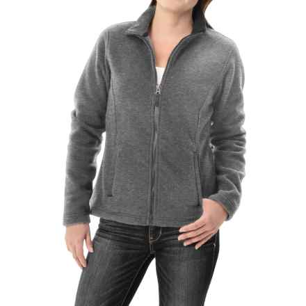 Fitted Fleece Jacket (For Women) in Grey - 2nds